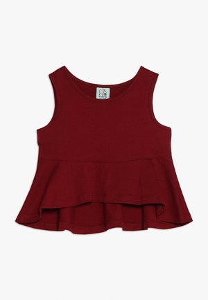 FRILL - Top - bordeaux