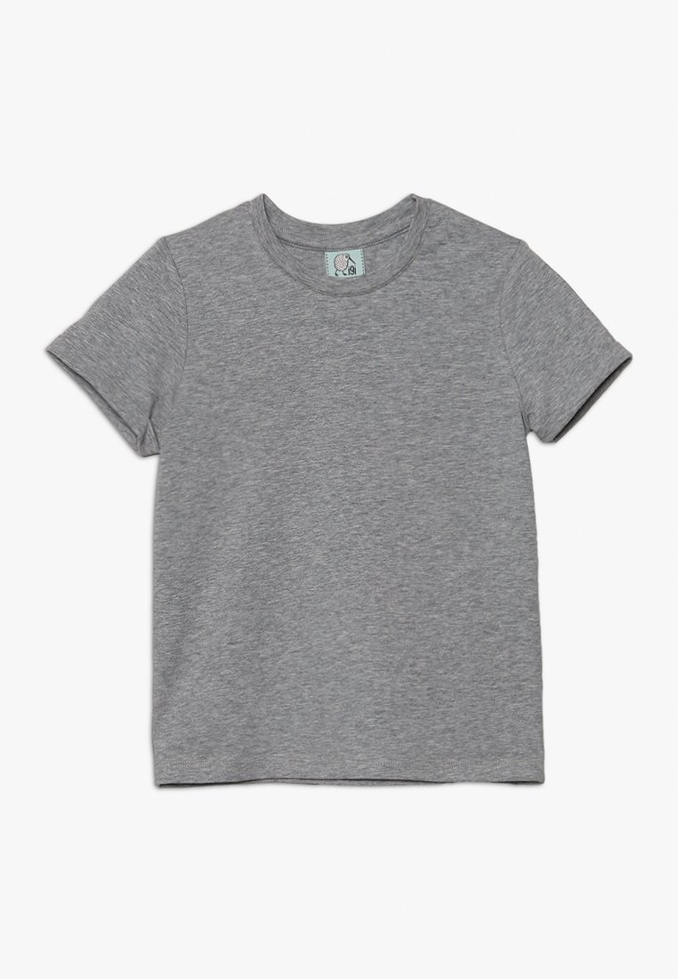 igi natur - WITH ROLLED SLEEVE - Camiseta básica - grey