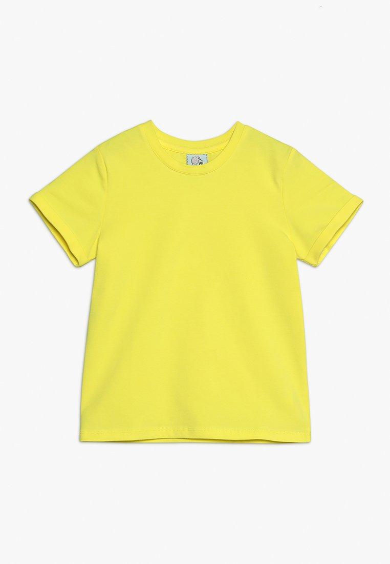 igi natur - WITH ROLLED SLEEVE - T-shirts basic - sunny yellow