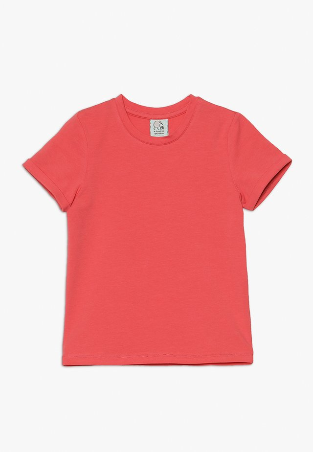 WITH ROLLED SLEEVE - T-shirt basic - sugared coral