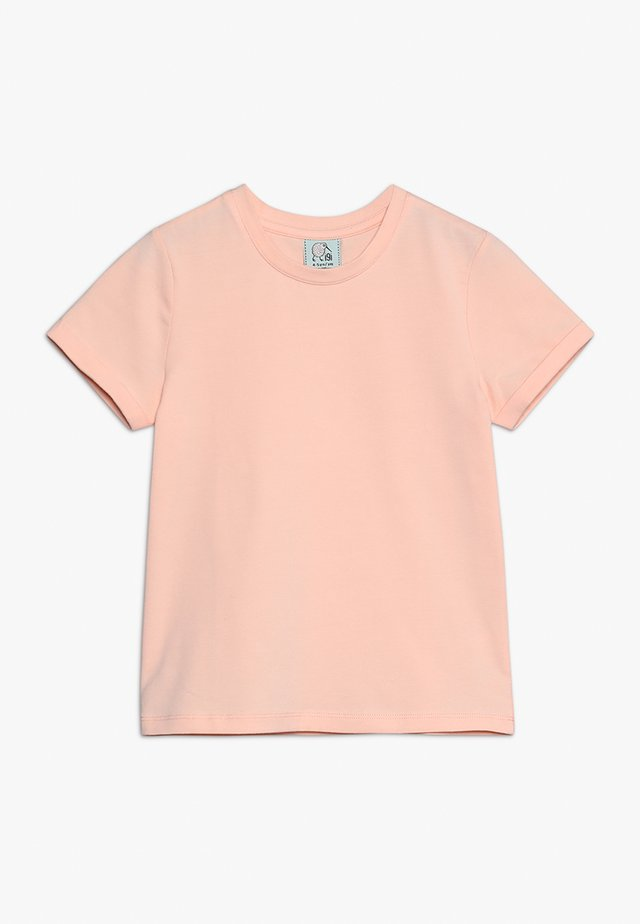 WITH ROLLED SLEEVE - T-Shirt basic - tropical peach