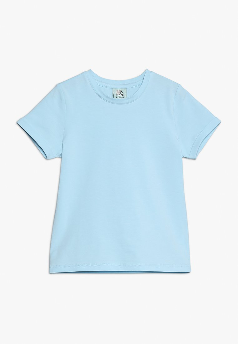 igi natur - WITH ROLLED SLEEVE - T-shirts basic - blue