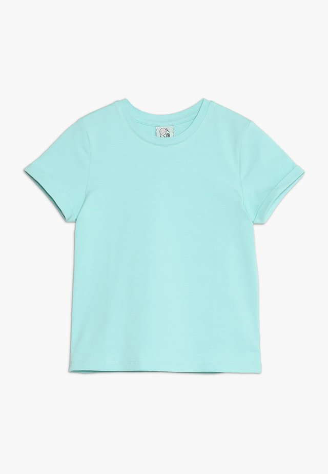 WITH ROLLED SLEEVE - T-Shirt basic - filtered aqua