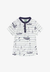 igi natur - CORE SAILOR GRANDAD NECK - Print T-shirt - light blue - 2
