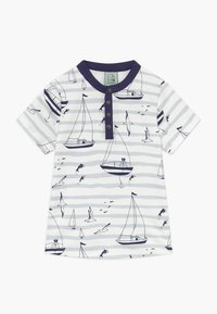 igi natur - CORE SAILOR GRANDAD NECK - Print T-shirt - light blue - 0