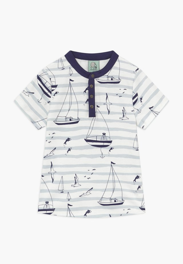 CORE SAILOR GRANDAD NECK - T-shirt med print - light blue