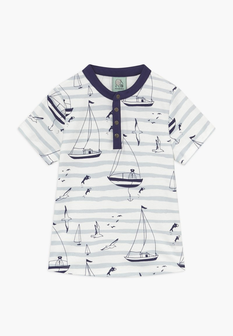 igi natur - CORE SAILOR GRANDAD NECK - Print T-shirt - light blue