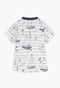 igi natur - CORE SAILOR GRANDAD NECK - Print T-shirt - light blue - 1