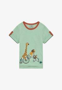 igi natur - CORE BICYCLE RACE TEE - Print T-shirt - light green - 2