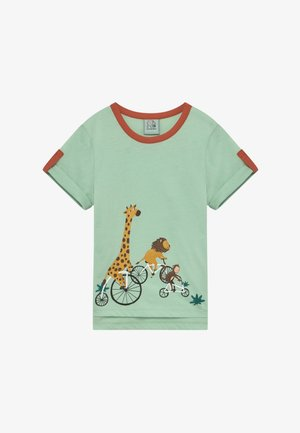CORE BICYCLE RACE TEE - Print T-shirt - light green