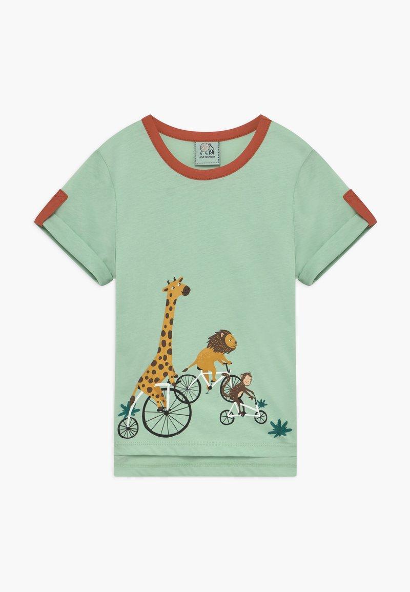 igi natur - CORE BICYCLE RACE TEE - Print T-shirt - light green