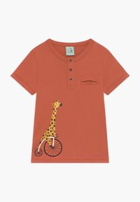 igi natur - CORE BICYCLE RACE GIRAFFE TEE - T-shirt print - red - 0
