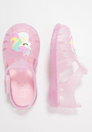 TOBBY UNICORN GLITTER - Sandály do bazénu - pink