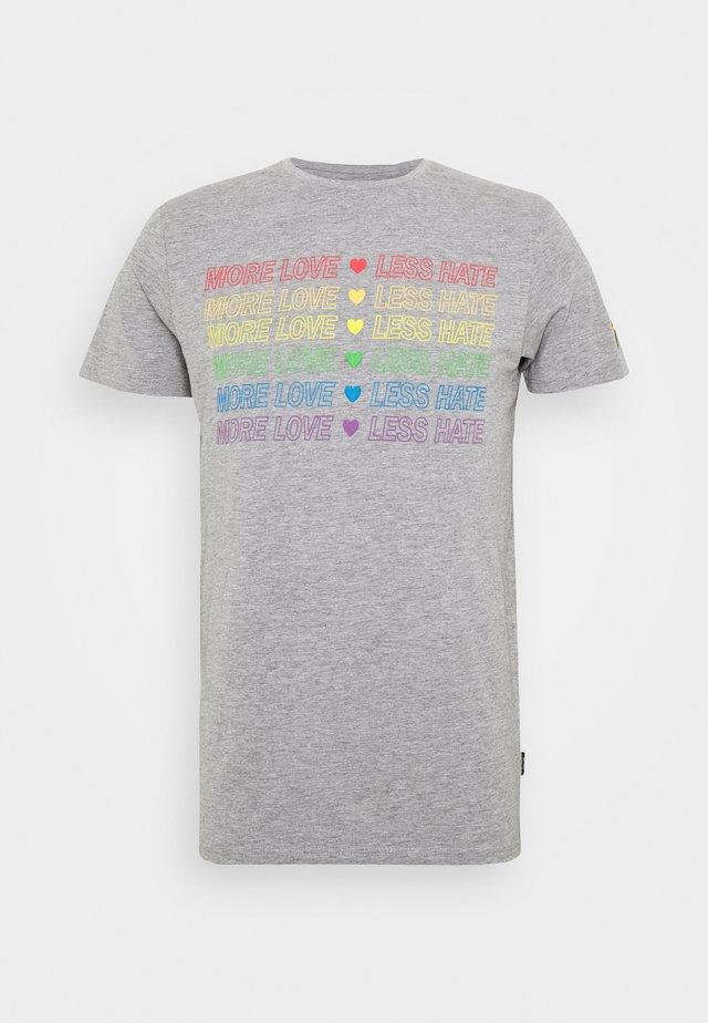 UNISEX PRIDE GENTRY - Print T-shirt - light grey melange
