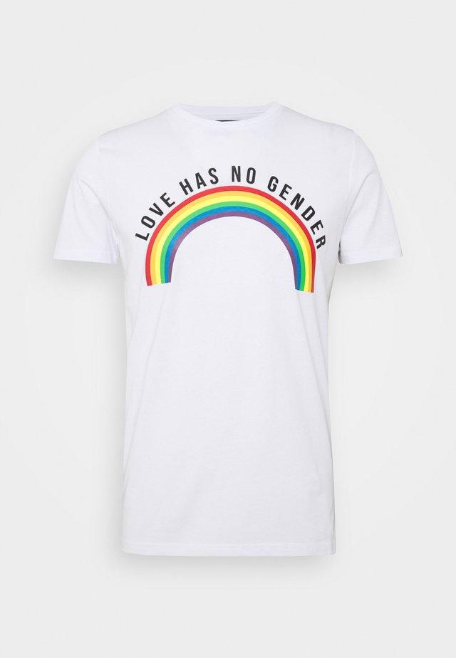 UNISEX PRIDE EAGLEBURGER - T-shirt med print - offwhite