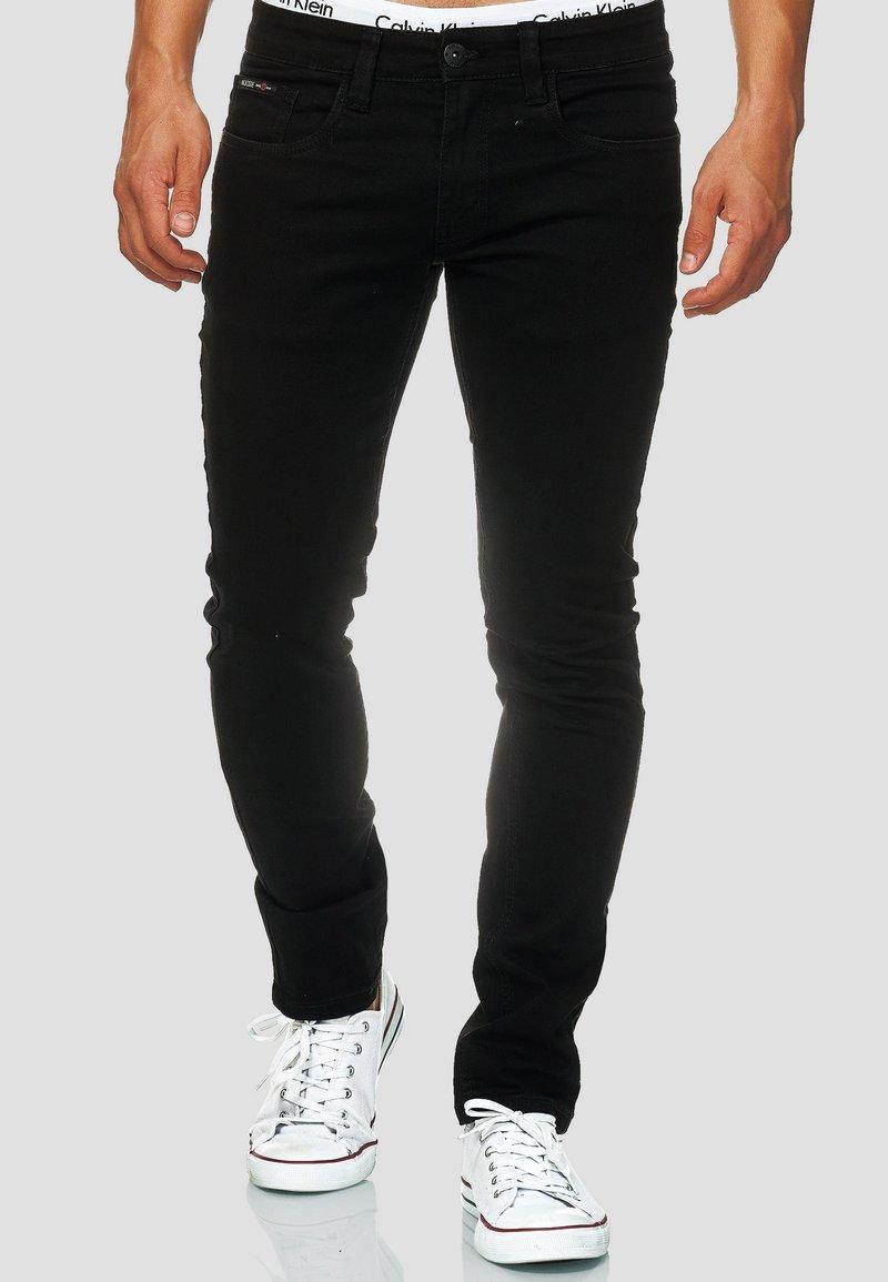 INDICODE JEANS - STRETCH - Jeans Slim Fit - ultra black