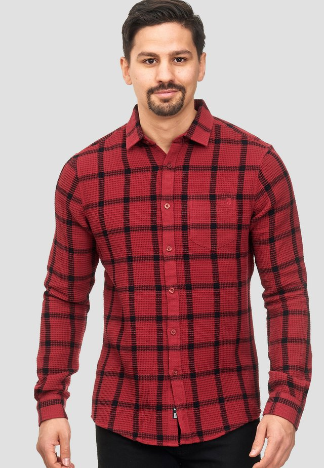 Shirt - mottled red