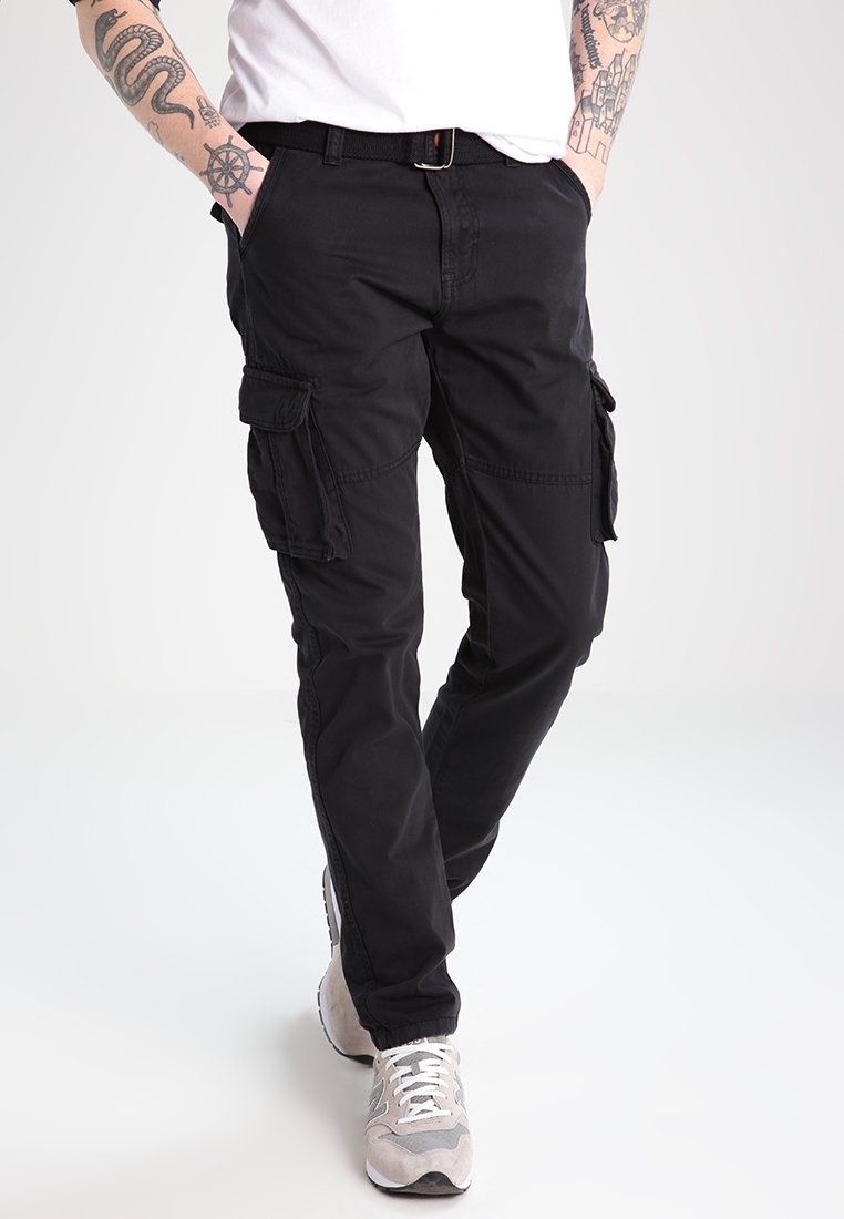 INDICODE JEANS - WILLIAM - Cargobyxor - black
