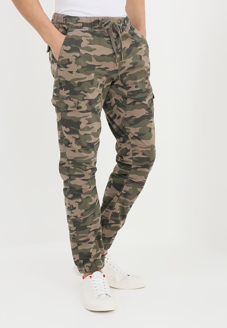 INDICODE JEANS - LEVI - Cargobukse - dired camouflage