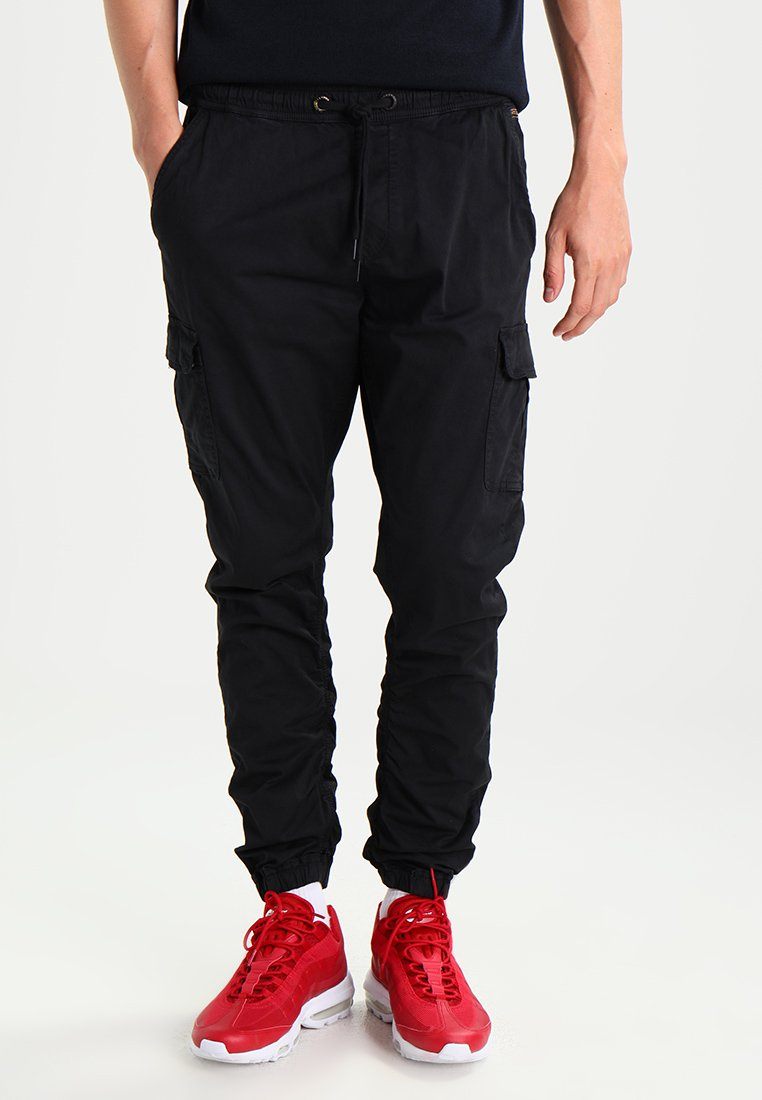 INDICODE JEANS - LAKELAND - Cargo trousers - black