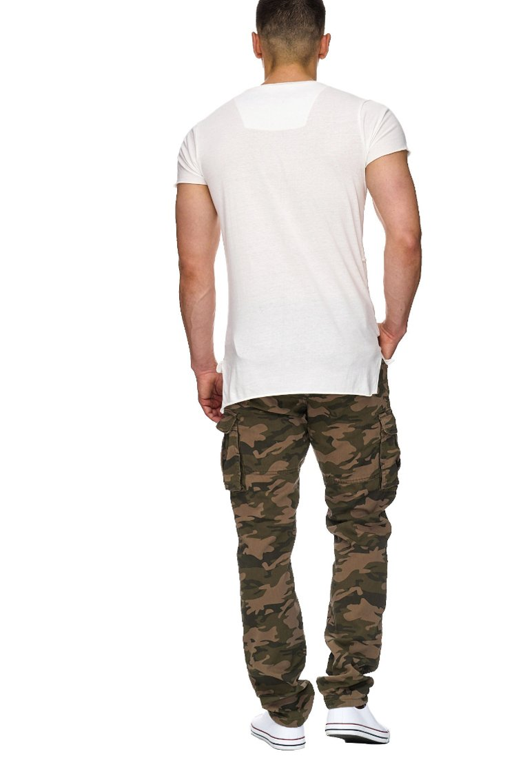Indicode Jeans William - Cargohose Dired Camouflage Black Friday