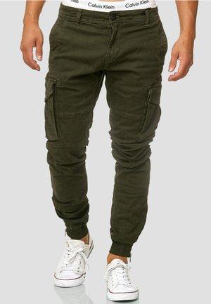 ALEX - Pantalon cargo - dark green