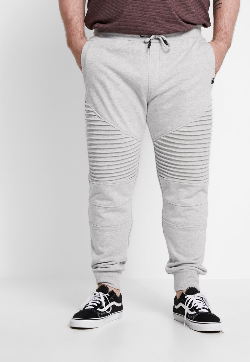 INDICODE JEANS - CRISTOBAL PLUS - Tracksuit bottoms - light grey