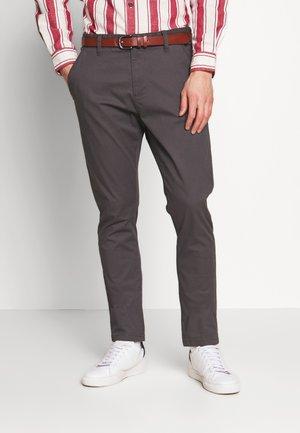GOWER - Chino kalhoty - dark grey