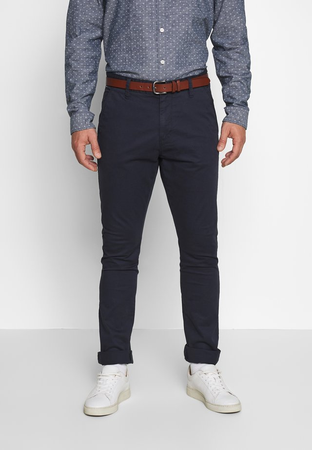 GOWER - Chino kalhoty - navy
