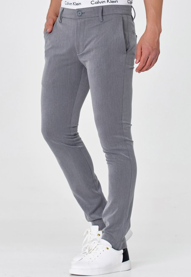 AKKAD - Chinos - lt grey mix