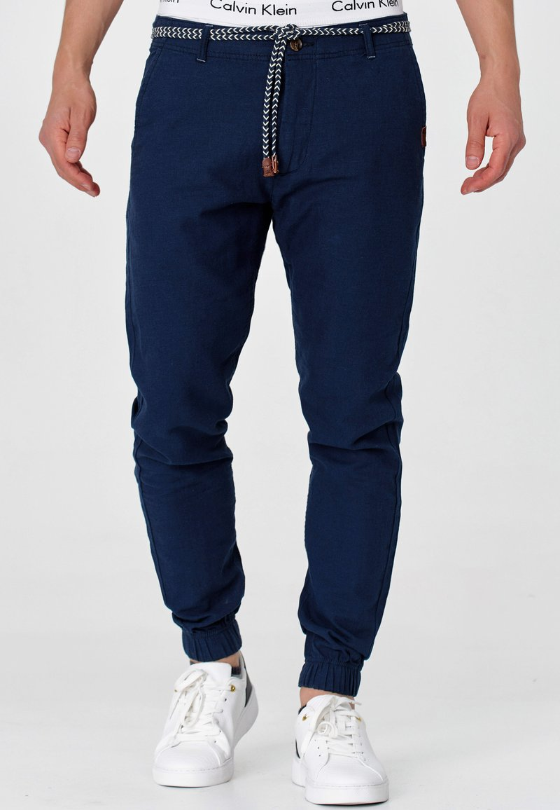 INDICODE JEANS - Trousers - navy