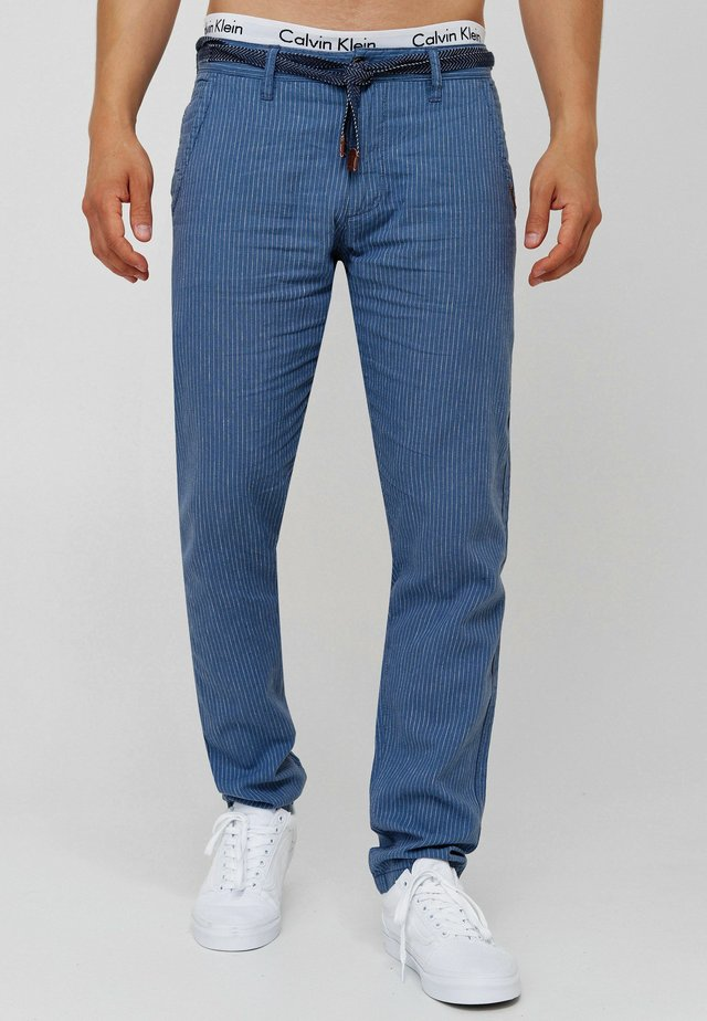 LEINENHOSE ARONA - Trousers - china blue