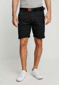 INDICODE JEANS - CONER - Shorts - black - 0