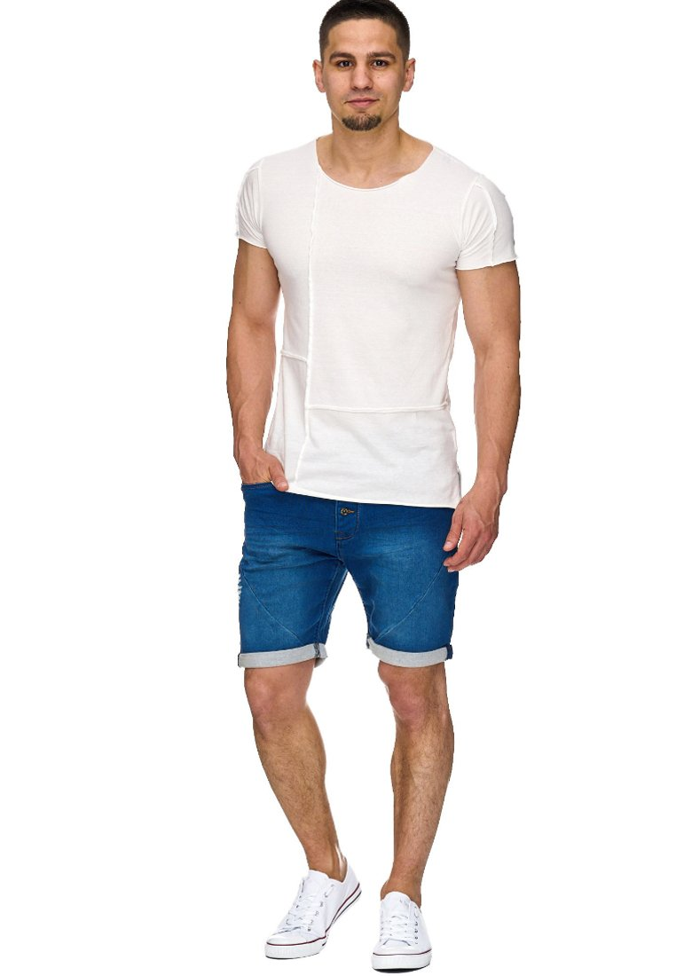INDICODE JEANS - Jeans Shorts - blue