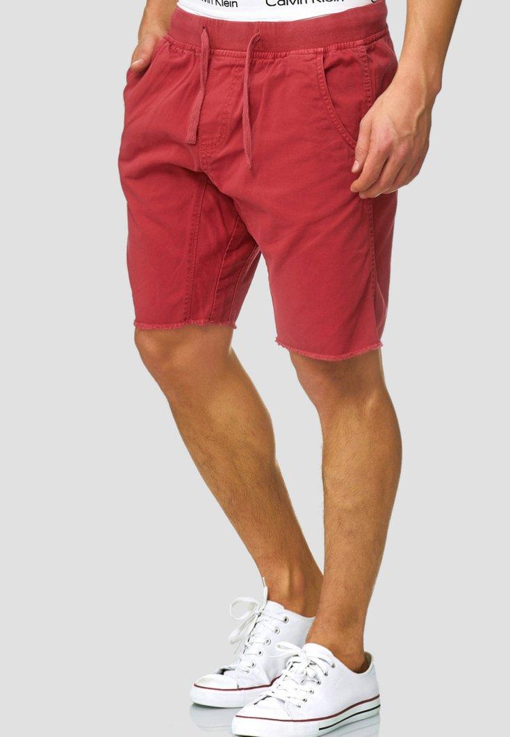 INDICODE JEANS - CARVER - Denim shorts - vermillion