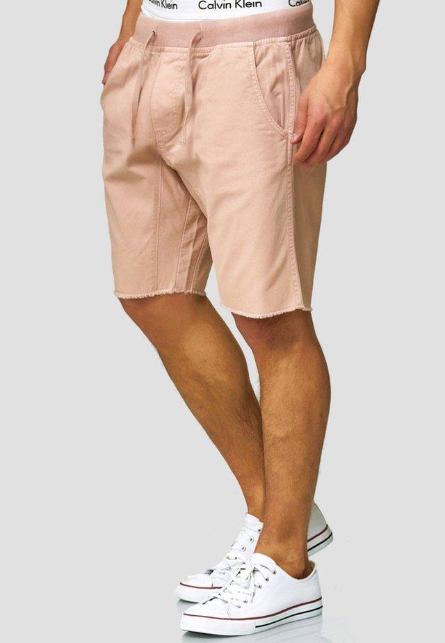 CARVER - Denim shorts - cameo rose