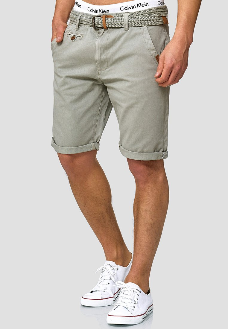 INDICODE JEANS - CASUAL FIT - Shorts - light grey