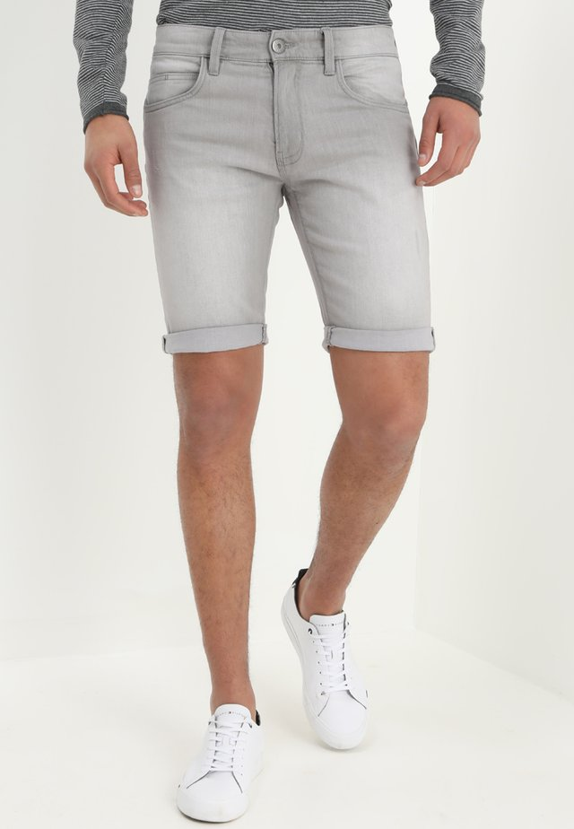 KADEN - Denim shorts - light grey