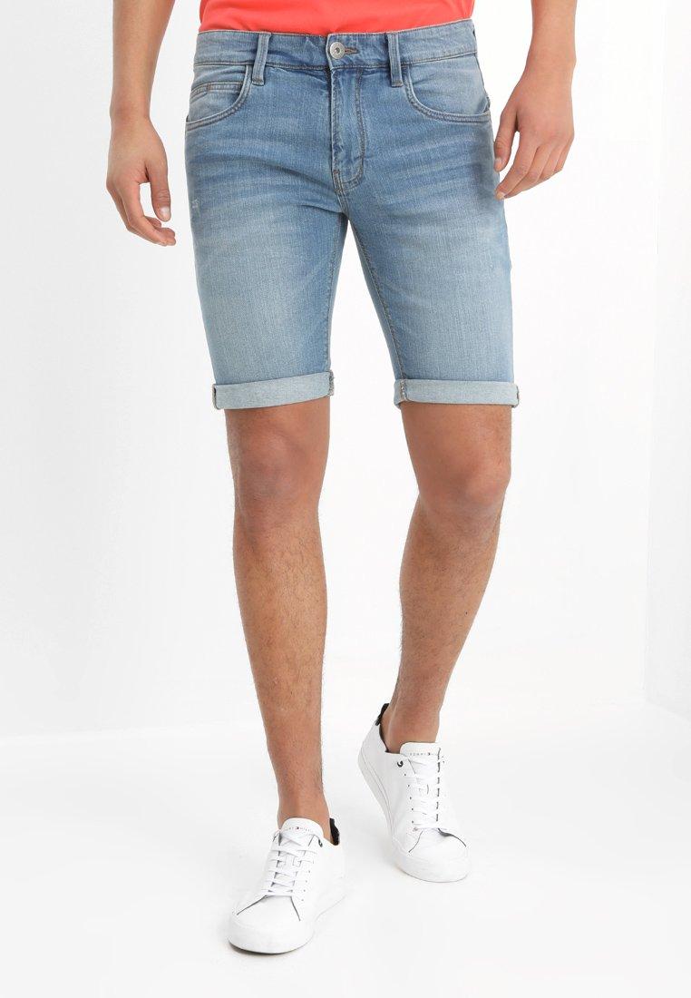 INDICODE JEANS - KADEN - Denim shorts - blue wash