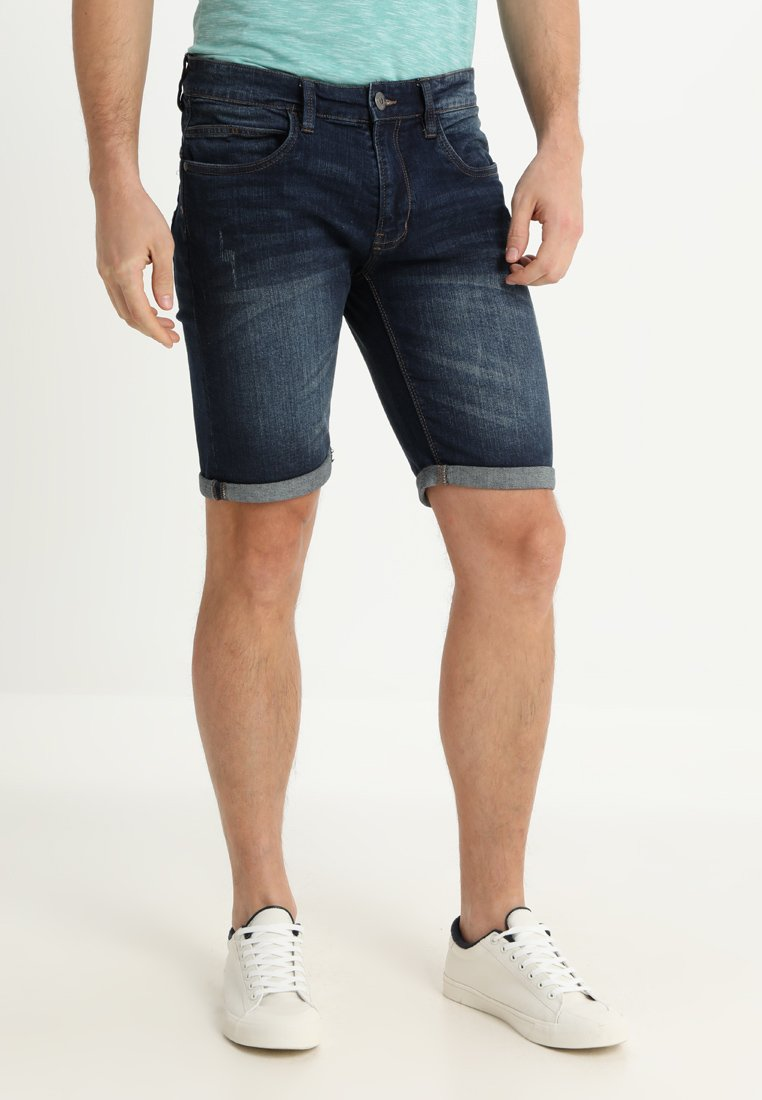 INDICODE JEANS - KADEN - Denim shorts - dark blue