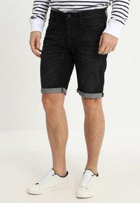 INDICODE JEANS - KADEN - Szorty jeansowe - black - 0