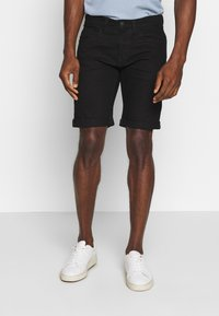 INDICODE JEANS - KADEN - Denim shorts - ultra black - 0