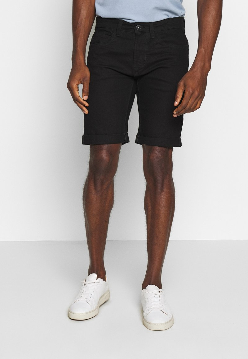 INDICODE JEANS - KADEN - Denim shorts - ultra black