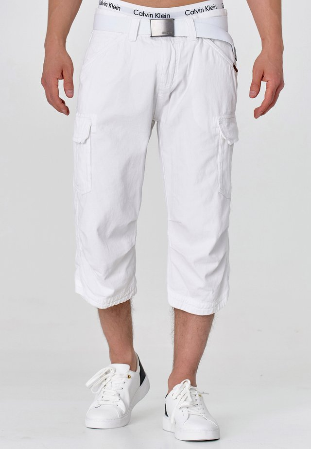 MIT GÜRTEL NICOLAS - Shorts - optical white