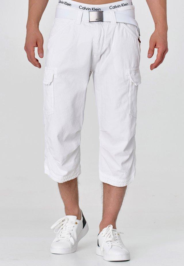 MIT GÜRTEL NICOLAS - Shortsit - optical white