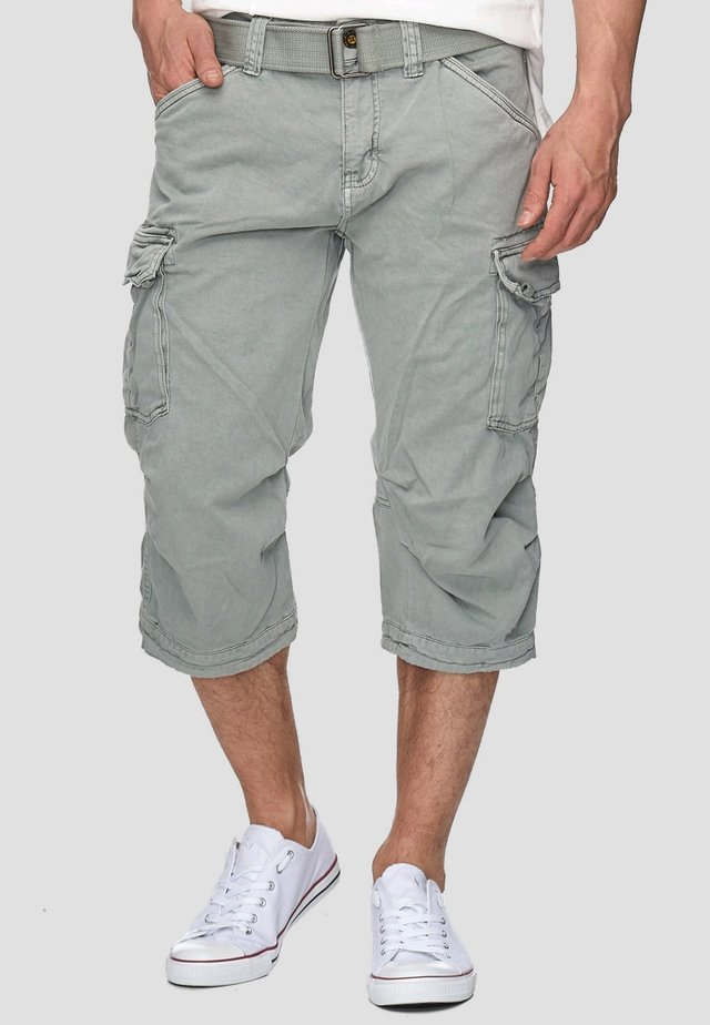 MIT GÜRTEL NICOLAS - Shorts - light grey