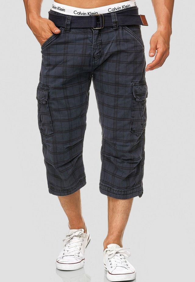MIT GÜRTEL NICOLAS - Shorts - navy