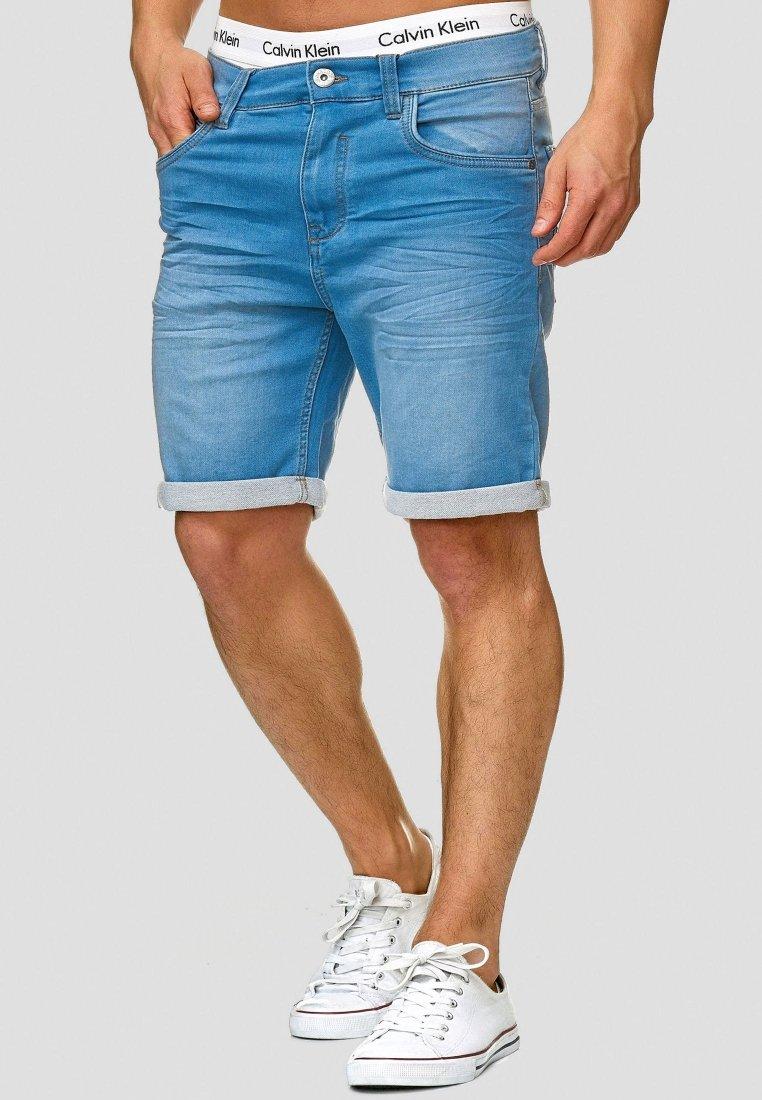 INDICODE JEANS - LONAR - Denim shorts - blue wash