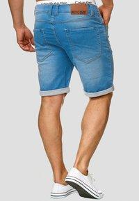 INDICODE JEANS - LONAR - Denim shorts - blue wash - 2