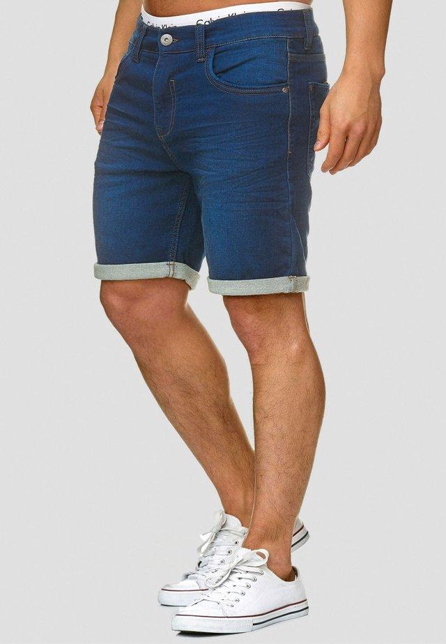 LONAR - Denim shorts - blue